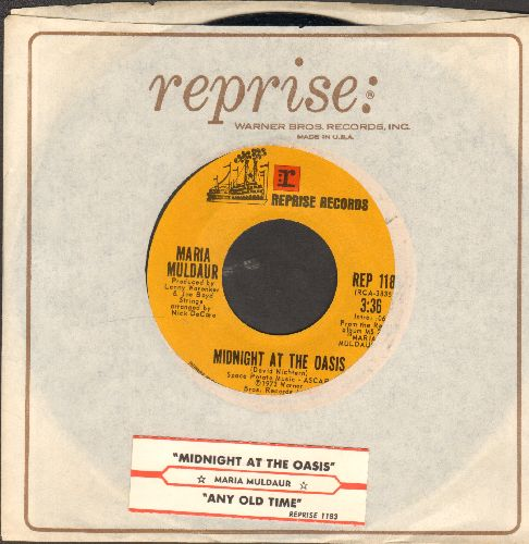 Muldaur, Maria - Any Old Time/Midnight At The Oasis (with juke box label and Reprise company sleeve)) - M10/ - 45 rpm Records