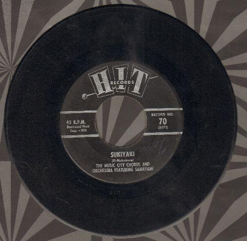 Samayami with Music City Chorus - Sukiyaki/Hello Stranger (by Alpha Zoe on flip-side)(contemporary cover versions of hits) - EX8/ - 45 rpm Records