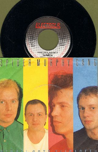 Spider Murphy Gang - Pfuati Gott, Elisabeth/Sommer in der Stadt (German Pressing with picture sleeve) - NM9/VG7 - 45 rpm Records