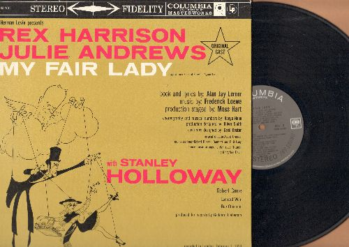 Original Cast - My Fair Lady - Original Cast recordedin London on February 1, 1959 - Starring Rex Harrison, Julie Andrews and Stanley Holloway (vinyl STEREO LP record, gate-fild cover) - NM9/NM9 - LP Records