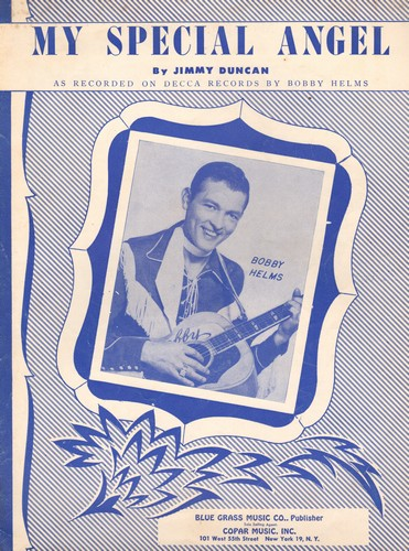 Helms, Bobby - My Special Angel - Vintage SHEET MUSIC for the song recorded by Bobby Helms - EX8/ - Sheet Music