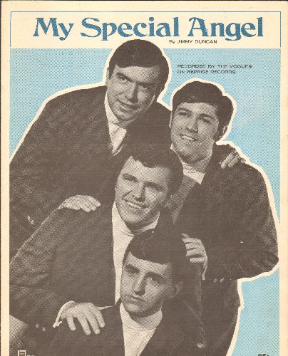 Vogues - My Special Angel - Vinatge SHEET MUSIC for the standard, with NICE portrait of The Vogues! - EX8/ - Sheet Music