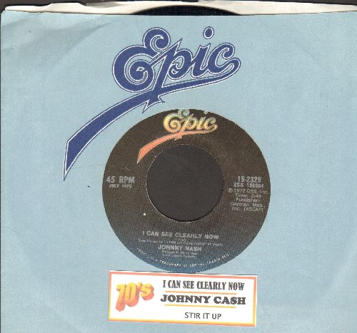 Nash, Johnny - I Can See Clearly Now/Stir It Up (double-hit re-issue with juke box label and Epic  company sleeve) - NM9/ - 45 rpm Records