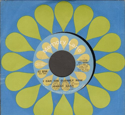 Nash, Johnny - I Can See Clearly Now/Stir It Up (double-hit re-issue with Epic company sleeve) - EX8/ - 45 rpm Records