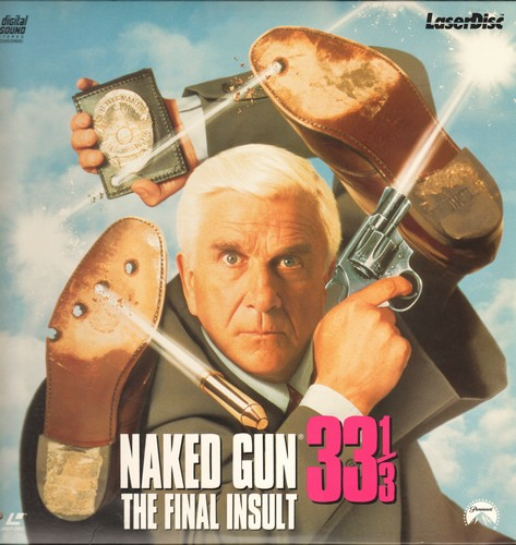 Naked Gun 33 1/3 - Naked Gun 33 1/3 - The Final Insult: LASERDISC of the Comedy Classic starring Leslie Nielsen and Precilla Presley (This is a LASERDISC, not any other kind of media!) - NM9/NM9 - LaserDiscs
