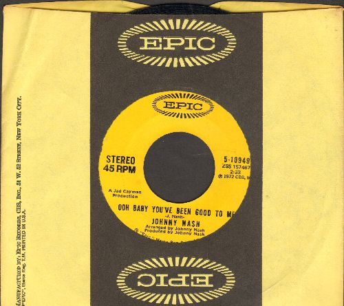 Nash, Johnny - Stir It Up/Ooh Baby You've Been Good To Me (STEREO pressing with Epic company sleeve) - VG7/ - 45 rpm Records