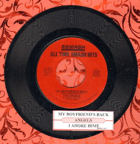Angels - My Boyfriend's Back/I Adore Him (double-hit re-issue with juke box label) - NM9/ - 45 rpm Records