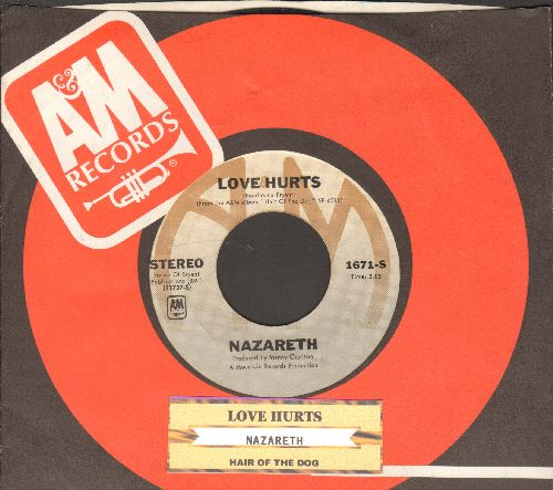 Nazareth - Love Hurts/Hair Of The Dog (with juke box label and company sleeve) - EX8/ - 45 rpm Records