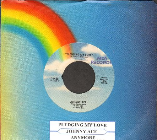 Ace, Johnny - Pledging My Love/Anymore (re-issue with juke box label and company sleeve) - NM9/ - 45 rpm Records