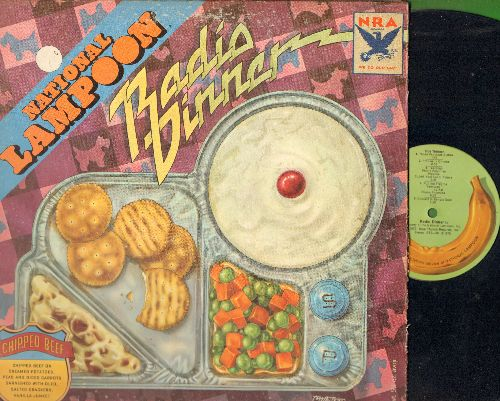 National Lampoon - Radio Dinner: Phone Phunnies, Deterirata, Magical Misery Tour, Those Fabulous Sixties (vinyl STEREO LP record, gate-fold cover) - NM9/VG7 - LP Records