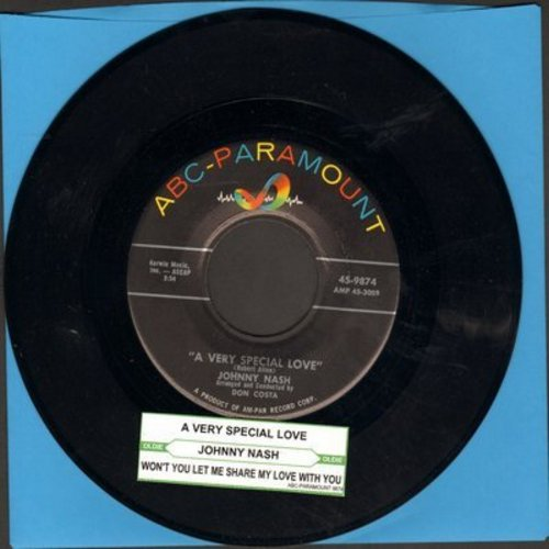 Nash, Johnny - A Very Special Love/Won't You Let Me Share My Love With You - EX8/ - 45 rpm Records