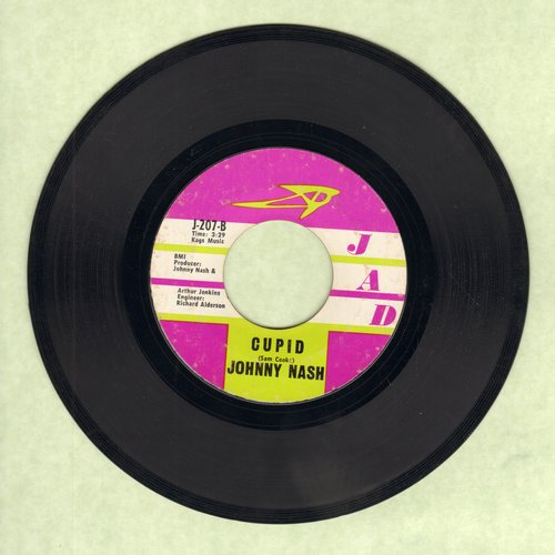 Nash, Johnny - Cupid/Hold Me Tight  - EX8/ - 45 rpm Records