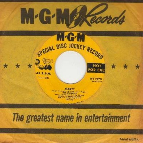 Naturals - Marty/The Jitterbug Waltz (DJ advance pressing with vintage MGM company sleeve) (sol) - EX8/ - 45 rpm Records