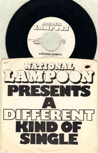 National Lampoon - What Were You Expecting - Rock 'N' Roll?/Perrier Junkie (with picture sleeve) - M10/EX8 - 45 rpm Records