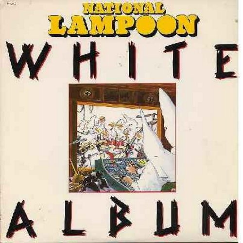 National Lampoon - Nationa Lampoon's White Album: Perrier Junkie, What Is God?, Fartman, Discoleptic, Gay Alliance, Robert Caucasian vs. Squab, Christopher Street, California Hot Tub (Vinyl STEREO LP record) - EX8/VG7 - LP Records