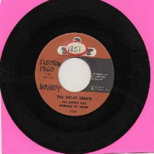Nazy, Ron Cameron - The Great Debate - Ron Cameron Nazy Interviews Mr. Benady and Mr. Ickson (RARE cut-in novelty spoofing the Kennedy/Nixon Presidential Race of 1960) (wol) - EX8/ - 45 rpm Records