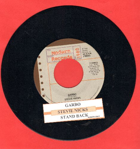 Nicks, Stevie - Garbo/Stand Back (with juke box label) - NM9/ - 45 rpm Records