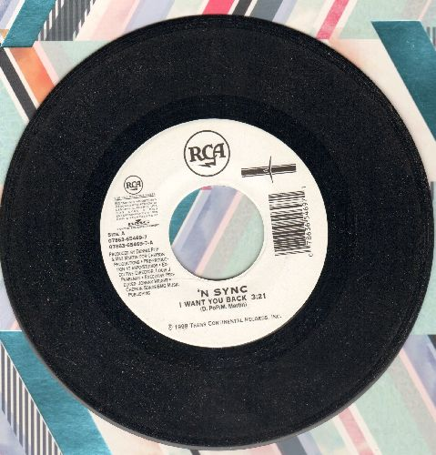 N Sync - I Want You Back/Tearin' Up My Heart - NM9/ - 45 rpm Records