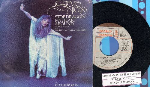 Nicks, Stevie - Stop Draggin' My Heart Around/Kind Of Woman (with picture sleeve and juke box label) - M10/EX8 - 45 rpm Records