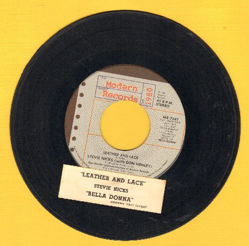 Nicks, Stevie - Leather And Lace/Bella Donna (with juke box label) - EX8/ - 45 rpm Records