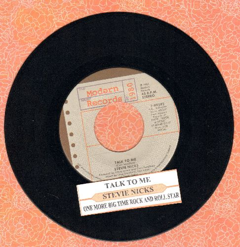 Nicks, Stevie - Talk To Me/One More Big Time Rock And Roll Star (MINT condition with juke box label) - M10/ - 45 rpm Records