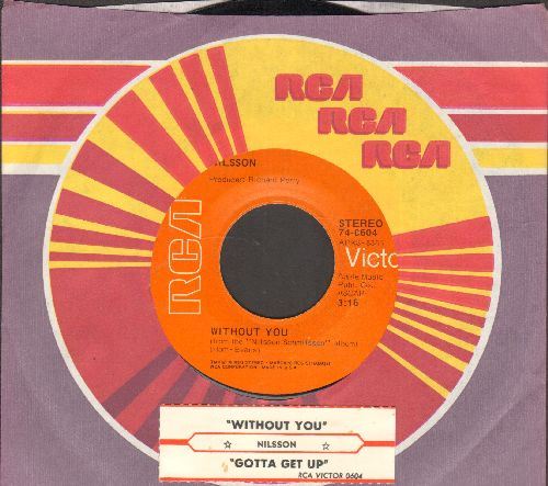Nilsson - Without You/Gotta Get Up (with juke box label RCA company sleeve) - NM9/ - 45 rpm Records