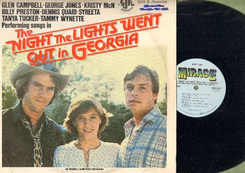 The Night The Lights Went Out In Georgia - The Night The Lights Went Out In Georgia - Original Motion Picture Soundtrack featuring title song by Tanya Tucker (Vinyl STEREO LP record) - EX8/VG7 - LP Records