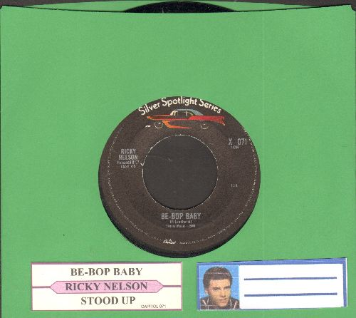 Nelson, Rick - Be-Bop Baby/Stood Up (double-hit re-issue with juke box label) - NM9/ - 45 rpm Records