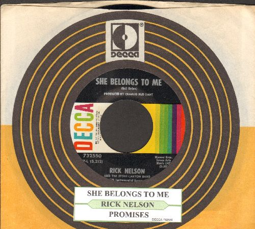Nelson, Rick - She Belongs To Me/Promises (with juke box label and company sleeve) - NM9/ - 45 rpm Records