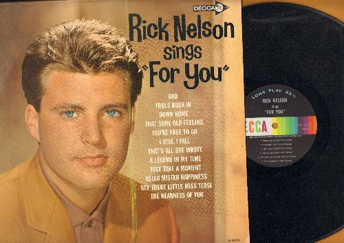 Nelson, Rick - Rick Nelson Sings For You: Fools Rush In, Down Home, That's All She Wrote, Hello Mister Happiness, The Nearness Of You (Vinyl MONO LP record, NICE condion!)) - NM9/NM9 - LP Records