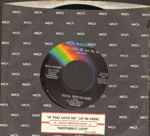Newton-John, Olivia - If You Love Me (Let Me Know)/Brotherly Love (with juke box label and MCA company sleeve) - M10/ - 45 rpm Records