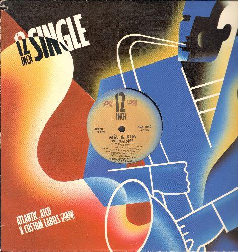Mel & Kim - Respectable/Respectable (12 inch vinyl Maxi single with Atlantic company cover) - NM9/ - Maxi Singles