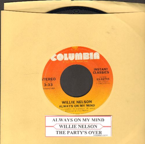 Nelson, Willie - Always On My Mind/The Party's Over (with juke box label) - EX8/ - 45 rpm Records