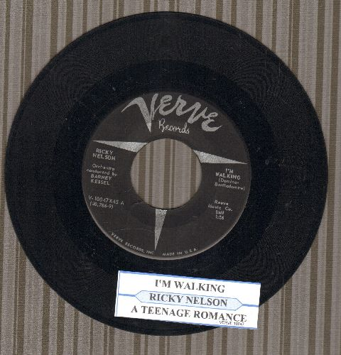Nelson, Rick - I'm Walkin'/A Teenage Romance (Ricky Nelson's FIRST SINGLE!)(with juke box label) - VG7/ - 45 rpm Records