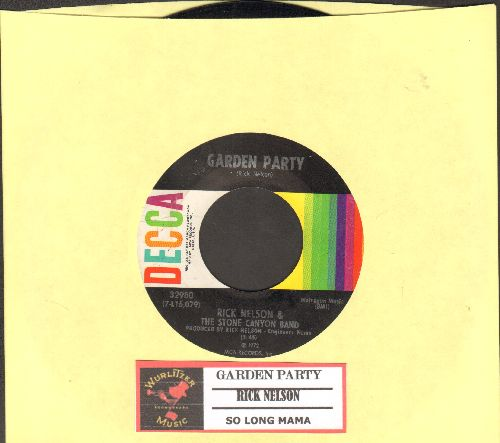 Nelson, Rick - Garden Party/So Long Mama (with juke box label) - EX8/ - 45 rpm Records