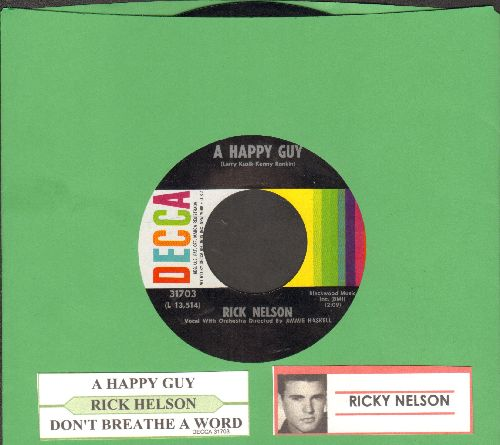 Nelson, Rick - A Happy Guy/Don't Breathe A Word (MINT condition with juke box label) - M10/ - 45 rpm Records