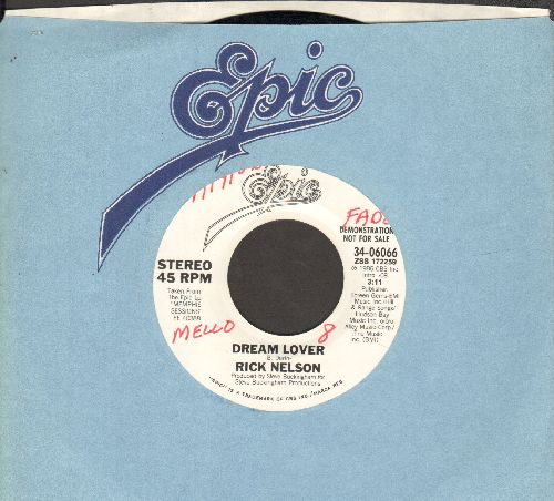 Nelson, Rick - Dream Lover (doubel-A-sided DJ advance pressing with Epic company sleeve) (wol) - NM9/ - 45 rpm Records