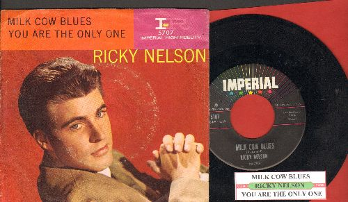 Nelson, Rick - Milk Cow Blues/You Are The Only One (with juke box label and picture sleeve) - NM9/VG7 - 45 rpm Records