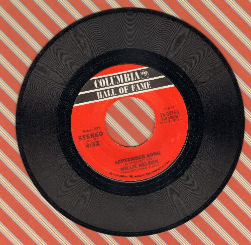 Nelson, Willie - On The Road Again/September Song (double-hit re-issue) - EX8/ - 45 rpm Records