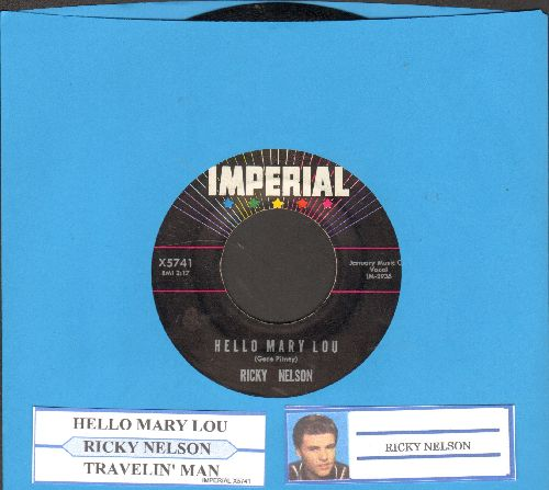 Nelson, Rick - Hello Mary Lou/Travelin' Man (with juke box label) - NM9/ - 45 rpm Records