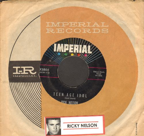 Nelson, Rick - Teen Age Idol/I've Got My Eyes On You (with Imperial company sleeve) - EX8/ - 45 rpm Records