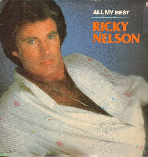 Nelson, Rick - All My Best: Hello Mary Lou, Poor Little Fool, Teenage Idol, Garden party, I'm Walkin' (Vinyl STEREO LP record) - NM9/EX8 - LP Records