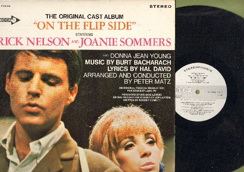 Nelson, Rick & Joanie Sommers - On The Flip Side - Original Cast Album with Music by Burt Bacharach and Lyrics by Hal David (vinyl STEREO LP record, DJ advance pressing) - NM9/NM9 - LP Records