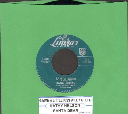Nelson, Kathy - Gimme A Little Kiss Will Ya Huh?/Santa Dear - NM9/ - 45 rpm Records