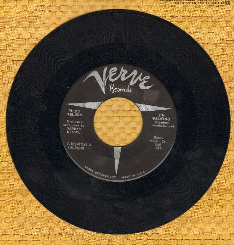 Nelson, Rick - I'm Walkin'/A Teenage Romance (Ricky Nelson's FIRST SINGLE!) - EX8/ - 45 rpm Records