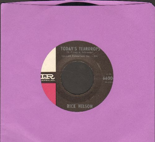 Nelson, Rick - Today's Teardrops/Thank You Darlin' - EX8/ - 45 rpm Records