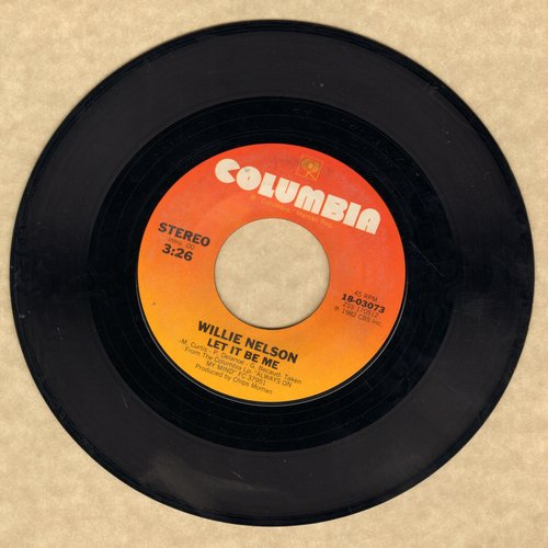 Nelson, Willie - Let It Be Me/Permanently Lonely - EX8/ - 45 rpm Records