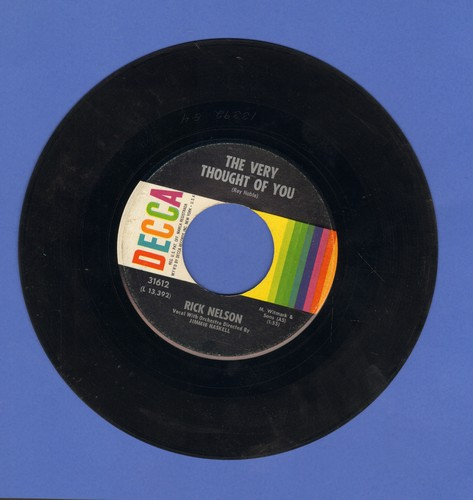 Nelson, Rick - The Very Thought Of You/I Wonder - EX8/ - 45 rpm Records