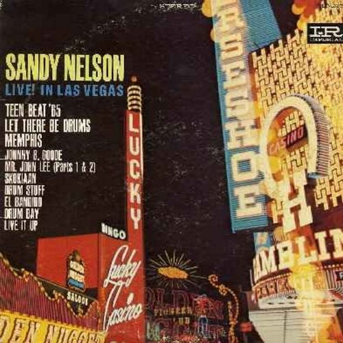 Nelson, Sandy - Live! In Las Vegas: Teen Beat '65, Let There Be Drums, Memphis, Johnny B. Goode, Skokiaan, El bandido, Live It Up (Vinyl STEREO LP record) - EX8/VG7 - LP Records