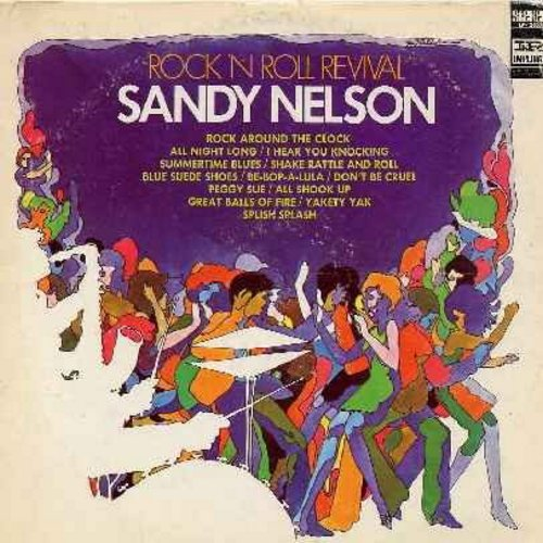 Nelson, Sandy - Rock 'N Roll Festival: Rock Around The Clock, I Hear You Knocking, Shake Rattle And Roll, Blue Suede Shoes, Peggy Sue, All Shook Up, Splish Splash, Great Balls Of Fire, Be-Bop-A-Lula (Vinyl STEREO LP record) - NM9/VG7 - LP Records